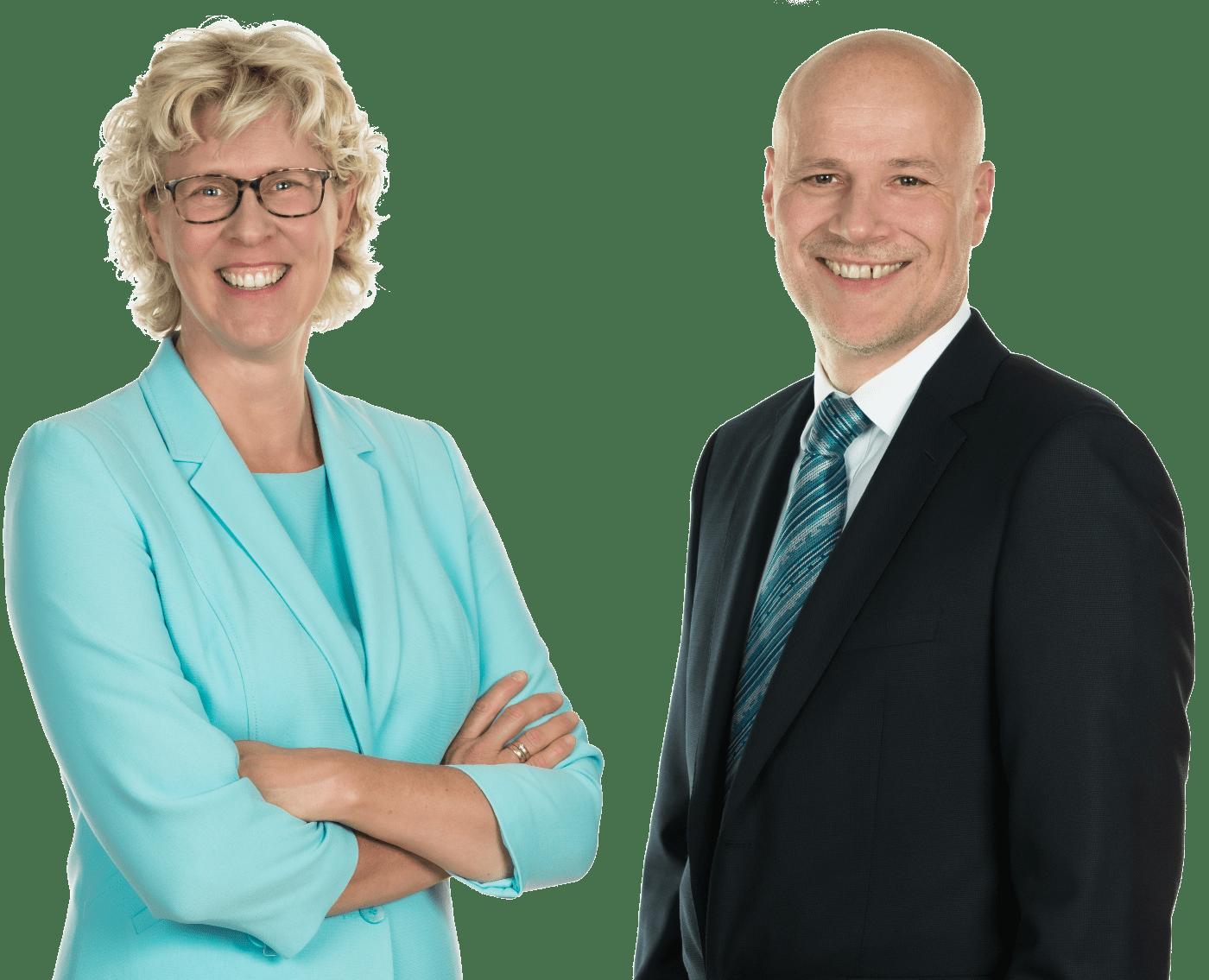 Portraits von Verena von Dehn und Jörg Neelsen, Geschäftsführer, VonDehn&Neelsen Consulting GmbH